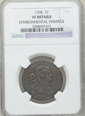 Large Cents: , 1798 1C First Hair Style -- Environmental Damage -- NGC Details.VF. NGC Census: (17/117). PCGS Population (21/107). Mintag...