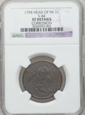 Large Cents: , 1794 1C Head of 1794 -- Corrosion -- NGC Details. XF. S-44. NGCCensus: (0/0). PCGS Population (61/149). Numismedia Wsl. ...