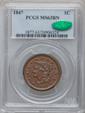 Large Cents: , 1847 1C MS63 Brown PCGS. CAC. PCGS Population (47/56). NGC Census:(75/168). Mintage: 6,183,669. Numismedia Wsl. Price for ...