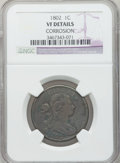 Large Cents: , 1802 1C -- Corroded -- NGC Details. VF. NGC Census: (25/223). PCGSPopulation (36/288). Mintage: 3,435,100. Numismedia Wsl....