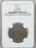 Large Cents: , 1805 1C Fine 15 NGC. S-267. NGC Census: (5/91). PCGS Population(7/142). Mintage: 941,116. Numismedia Wsl. Price for probl...