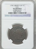 Large Cents, 1796 1C Liberty Cap -- Corrosion -- NGC Details. VG. S-91. NGCCensus: (5/81). PCGS Population (14/125). Mintage: 109,825....