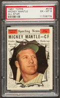 Baseball Cards:Singles (1960-1969), 1961 Topps Mickey Mantle All Star #578 PSA EX-MT 6....