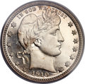 Proof Barber Quarters, 1910 25C PR66 Cameo PCGS. CAC....