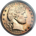 Proof Barber Quarters, 1903 25C PR65 Cameo PCGS. CAC....