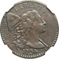 Large Cents, 1794 1C Head of 1794 VF30 NGC. S-31, B-13, R.1....
