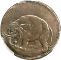 Colonials, (1694) TOKEN London Elephant Token, LON DON -- Smoothed -- PCGSGenuine. VF Details. Hodder 2-D, W-12060, High R.6....