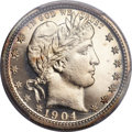 Proof Barber Quarters, 1904 25C PR66 Cameo PCGS....