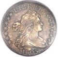 Early Dollars, 1803 $1 Large 3 AU50 PCGS Secure. B-6, BB-255, R.2....