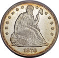 Seated Dollars, 1870 $1 MS61 PCGS Secure....