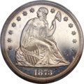 Proof Seated Dollars, 1873 $1 PR63 Cameo PCGS....