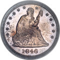 Proof Seated Quarters, 1846 25C PR64 PCGS....