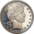 Proof Barber Quarters, 1892 25C PR66 Deep Cameo PCGS....