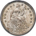Seated Dimes, 1855 10C Arrows MS65 PCGS. CAC....