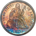 Proof Seated Dimes, 1879 10C PR67 PCGS Secure. CAC....