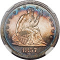Proof Seated Quarters, 1857 25C PR65 Cameo NGC....