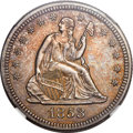 Seated Quarters, 1853/53 25C No Arrows MS64 NGC....