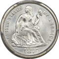 Seated Dimes, 1875-S 10C Mintmark Above Bow MS65+ PCGS....