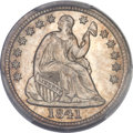 Seated Half Dimes, 1841 H10C MS66 PCGS. CAC....