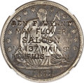Counterstamps, 1858-O Seated Half Dollar VF30 NGC. Ben F. Wyant, May Flower Saloon, Memphis, TN Counterstamp. Brunk M-326, Rulau Tenn 102....