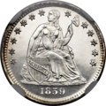 Proof Seated Half Dimes, 1859 H10C PR66 Cameo NGC....