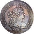Early Dollars, 1799/8 $1 15 Stars Reverse AU50 PCGS. B-3, BB-141, R.3....
