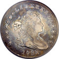 Early Dollars, 1798 $1 Large Eagle, Wide Date, Pointed 9 VF35 PCGS. B-23a, BB-105,R.3....