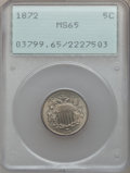Shield Nickels: , 1872 5C MS65 PCGS. PCGS Population (50/19). NGC Census: (35/14).Mintage: 6,036,000. Numismedia Wsl. Price for problem free...