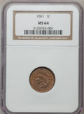 Indian Cents: , 1861 1C MS64 NGC. NGC Census: (570/372). PCGS Population (401/240).Mintage: 10,100,000. Numismedia Wsl. Price for problem ...