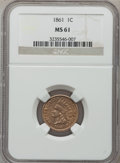 Indian Cents: , 1861 1C MS61 NGC. NGC Census: (52/1366). PCGS Population (16/953).Mintage: 10,100,000. Numismedia Wsl. Price for problem f...