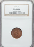 Indian Cents: , 1879 1C MS65 Red and Brown NGC. NGC Census: (202/42). PCGSPopulation (68/7). Mintage: 16,231,200. Numismedia Wsl. Price fo...
