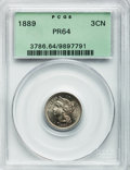 Proof Three Cent Nickels: , 1889 3CN PR64 PCGS. PCGS Population (323/693). NGC Census:(233/657). Mintage: 3,436. Numismedia Wsl. Price for problem fre...