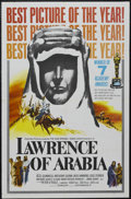 "Movie Posters:Academy Award Winner, Lawrence of Arabia (Columbia, 1962). One Sheet (27"" X 41"") AcademyAwards Style D. Epic. Starring Peter O'Toole, Alec Guinne..."
