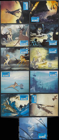 "Movie Posters:Animated, Bambi (Buena Vista, R-1960s). French Lobby Card Set of 11 (9.5"" X12""). Animated Fantasy. Starring the voices of Bobby Stewa...(Total: 11 Items)"