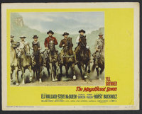 "The Magnificent Seven (United Artists, 1960). Lobby Card (11"" X 14""). Western. Starring Yul Brynner, Eli Walla..."