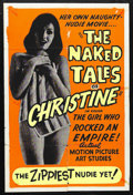 "Movie Posters:Bad Girl, The Naked Tales of Christine (Unknown, 1963). One Sheet (27"" X41""). Little is known about this film other than that it is l..."