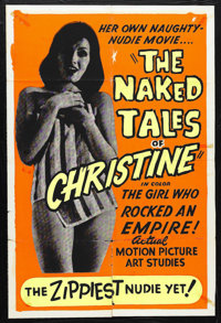 "The Naked Tales of Christine (Unknown, 1963). One Sheet (27"" X 41""). Little is known about this film other tha..."