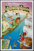"Movie Posters:Animated, Peter Pan (Buena Vista, R-1989). One Sheet (27"" X 41""). Animated.Starring the voices of Bobby Driscoll, Kathryn Beaumont, H..."