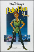 "Movie Posters:Animated, Peter Pan (Buena Vista, R-1982). One Sheet (27"" X 41""). Animated. Starring the voices of Bobby Driscoll, Kathryn Beaumont, H..."
