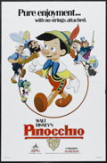 "Movie Posters:Animated, Pinocchio (Buena Vista, R-1984). One Sheet (27"" X 41""). Animated. Starring the voices of Dick Jones, Cliff Edwards, Christia..."