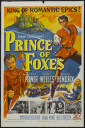 "Movie Posters:Adventure, Prince of Foxes (20th Century Fox, 1949). One Sheet (27"" X 41""). Adventure. Starring Tyrone Power, Orson Welles, Wanda Hendr..."