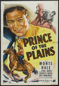 """Movie Posters:Western, Prince of the Plains (Republic, 1949). One Sheet (27"""" X 41""""). Western. Starring Monte Hale, Paul Hurst, Shirley Davis and Ro..."""