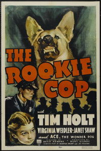 "The Rookie Cop (RKO, 1939). One Sheet (27"" X 41""). Crime Drama. Starring Tim Holt, Virginia Weidler, Janet Sha..."