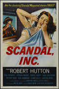 "Movie Posters:Crime, Scandal, Inc. (Republic, 1956). One Sheet (27"" X 41""). Crime.Starring Robert Hutton, Havis Davenport, Patricia Wright and C..."
