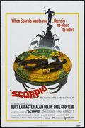 "Movie Posters:Thriller, Scorpio (United Artists, 1973). One Sheet (27"" X 41"") Style B. Thriller. Starring Burt Lancaster, Alain Delon, Paul Scofield..."