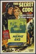 "Movie Posters:Serial, The Secret Code (Columbia, R-1953). One Sheet (27"" X 41""). Chapter 3 -- ""Nerve Gas."" Serial. Starring Paul Kelly, Anne Nagel..."