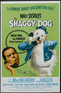 "Movie Posters:Comedy, The Shaggy Dog (Buena Vista, R-1974). One Sheet (27"" X 41""). Family Comedy. Starring Fred MacMurray, Jean Hagen, Tommy Kirk ..."