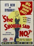 "Movie Posters:Bad Girl, She Shoulda Said No (Hallmark, 1949). One Sheet (27"" X 41""). CrimeDrama. Starring Lila Leeds, Alan Baxter, Lyle Talbot and ..."