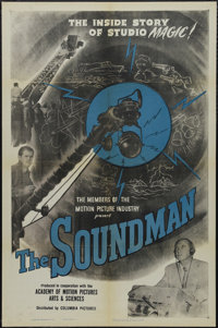 "The Soundman (Columbia, 1950). One Sheet (27"" X 41""). Documentary. Starring Jack Carson. Directed by Aaron Ste..."