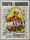 """Movie Posters:Western, South of the Border (Republic, 1939). Australian One Sheet (27"""" X 40""""). Gene Autry and Smiley Burnette work to keep German a..."""